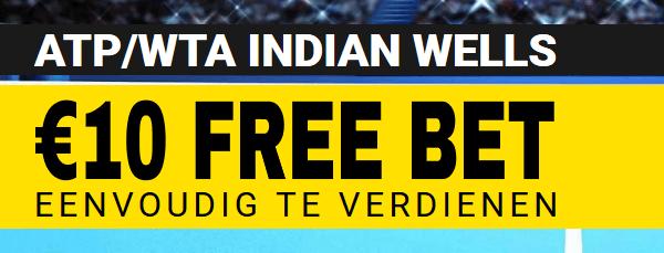 Win 10 euro als gratis weddenschappen voor het tennis van Miami