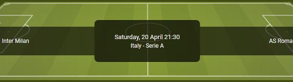 De odds voor Inter tegen Roma in de Serie A bij bookmaker Bet90 online