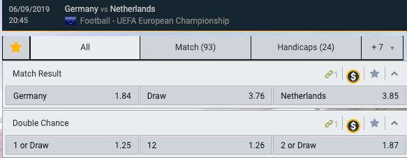 Volg de Quoteringen Duitsland - Nederland in de EK kwalificatie wedstrijd