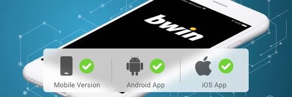 Bij de Bwin app kan je met Android & Iphone wedden.