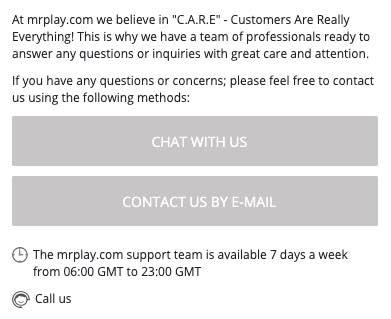 Zo contacteer je de MrPlay klantenservice