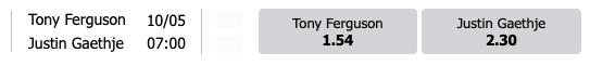 Dit zijn de speedybet odds voor Ferguson tegen Ghaetje (UFC 249)