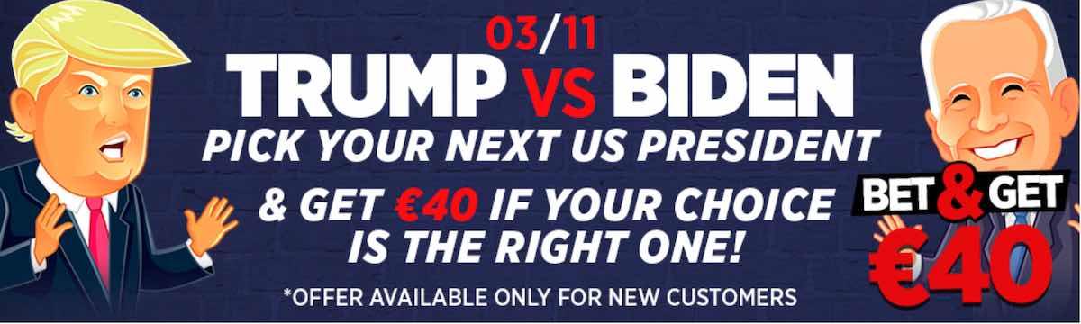 Bij Ladbrokes krijg je een mooie Trump - Biden promo