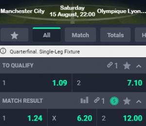 goede odds bij City tegen Lyon wedden