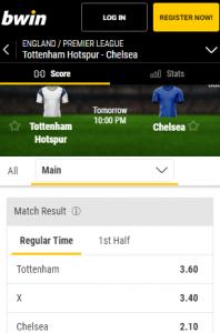 Chelsea favoriet tegen Tottenham Hotspur