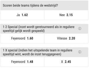 Feyenoord - Vitesse odds