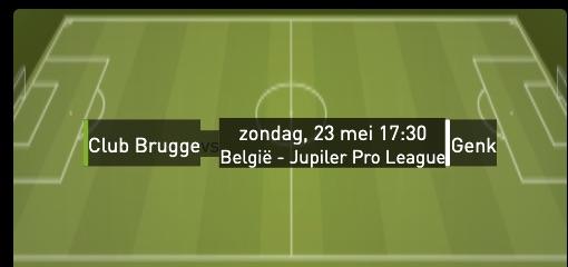 Club Brugge - Racing genk playoffs 2021