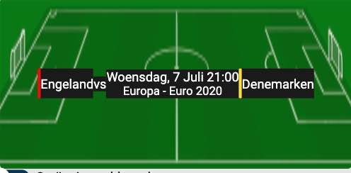 Engeland Denemarken EK 2020