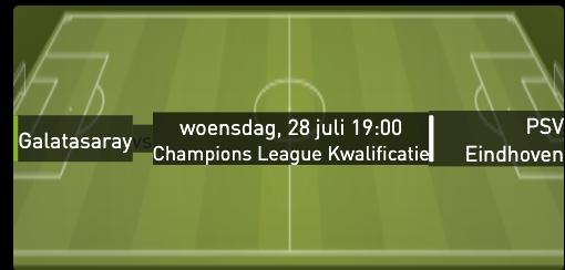 Galatasaray - PSV CL kwalificatie