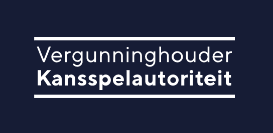 Logo van de kansspelautoriteit vergunning in Nederland